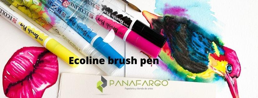 Ecoline brush pen ejemplo