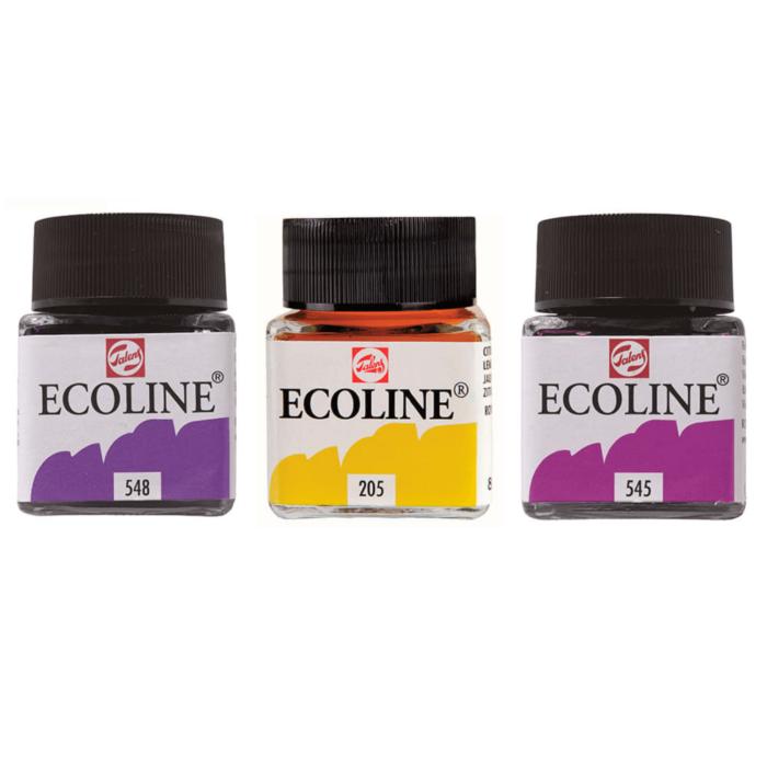 Ecoline acuarela 3 colores + Panafargo