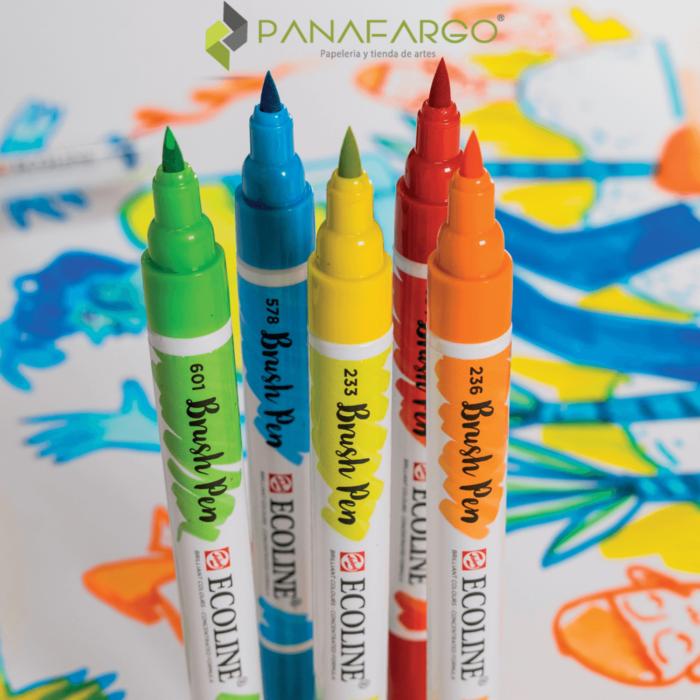 Brush pen talens en acción