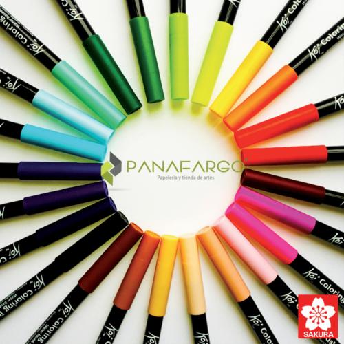 Colores variados marcador koi para lettering