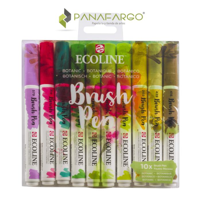Ecoline brush pen 10 estuche botánicos