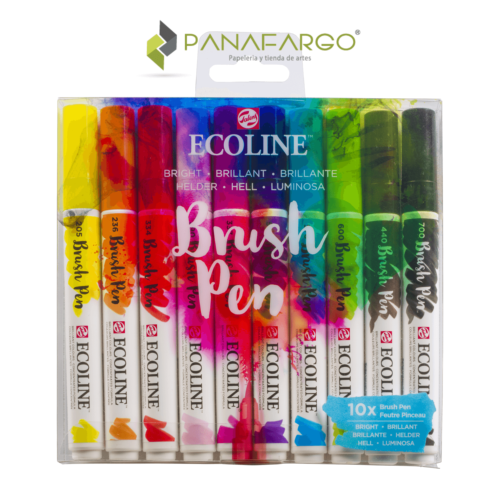Ecoline brush pen 10 estuche brillante