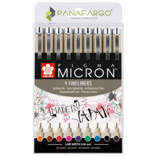 Estuche delineador sakura micron x 9