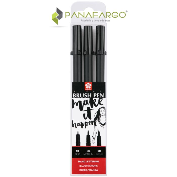Estuche marcador punta pincel pigma micron x 3
