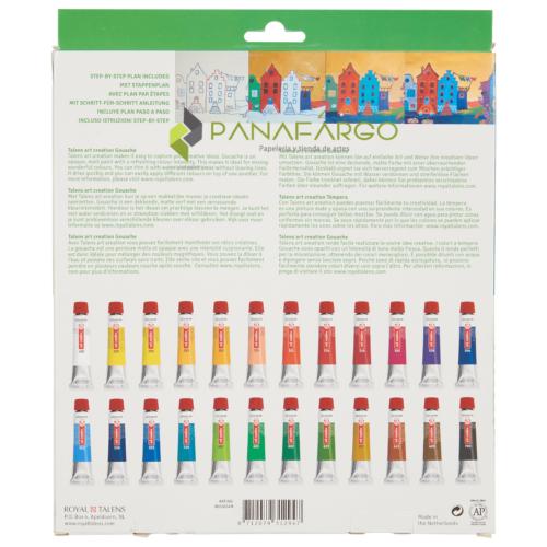 Estuche pintura tempera Gouache x 24 colores posterior