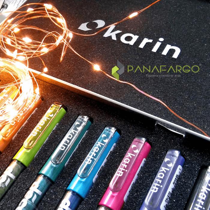 Foto marcadores lettering metalicos karin