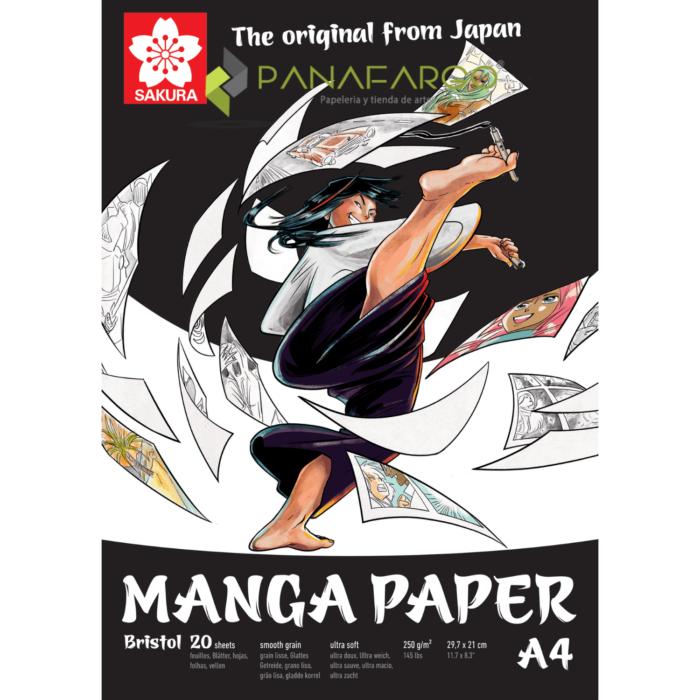 Papel manga tamaño A4 especial para dibujo