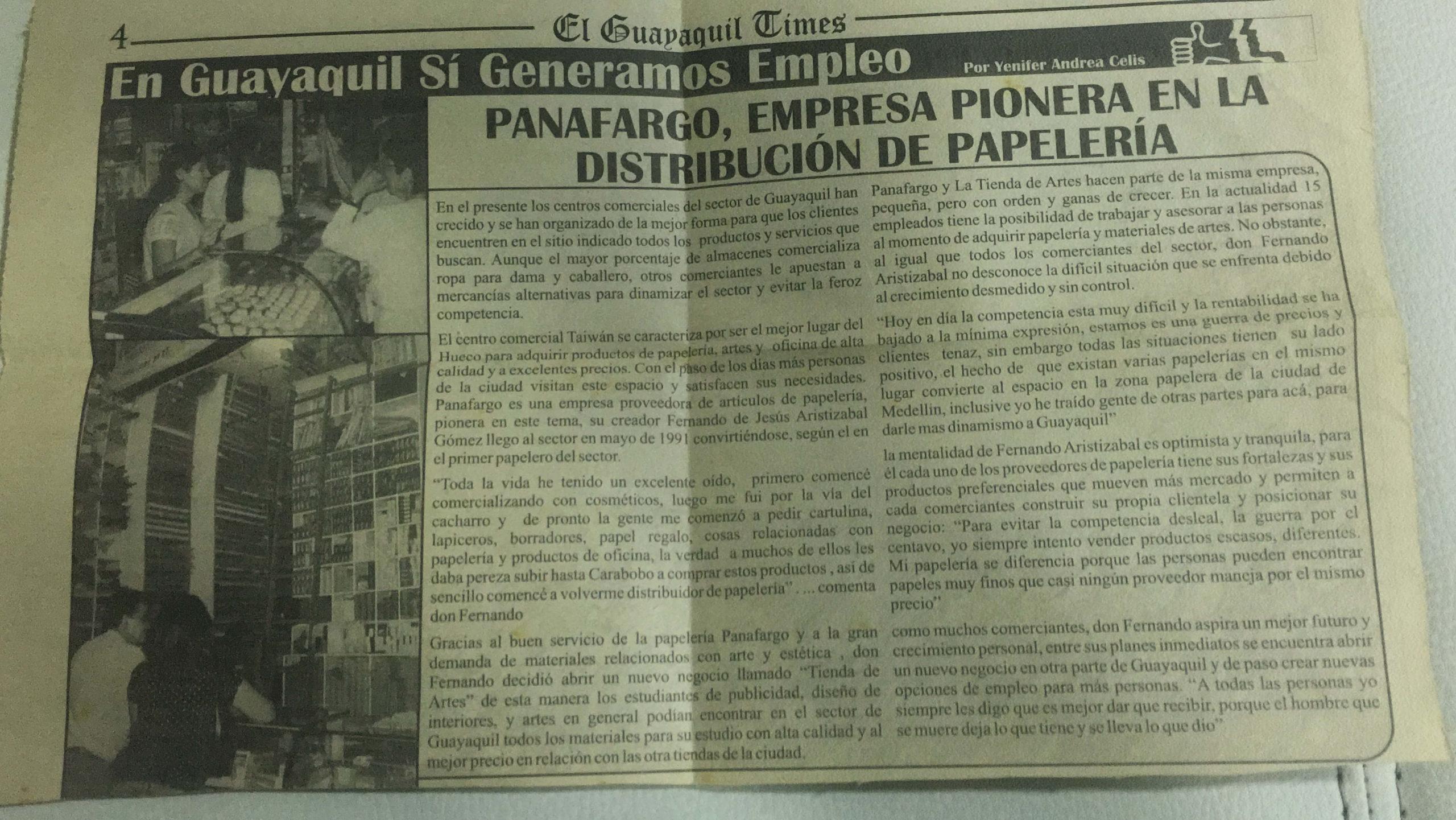Papeleria en Medellin entrevista Fernando en Guayaquil Times