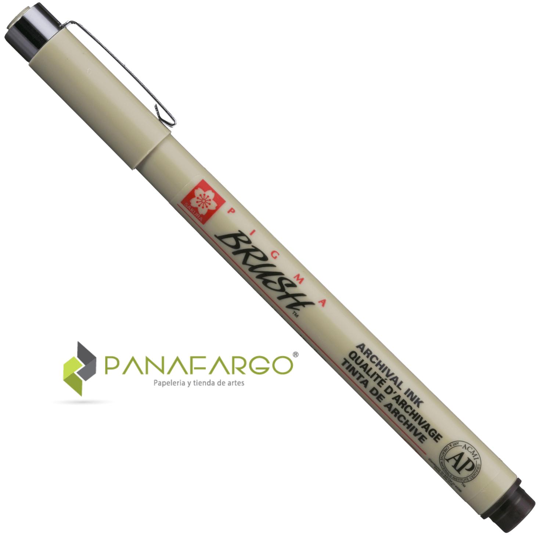 Presentación con tapa pigma brush pen punta pincel