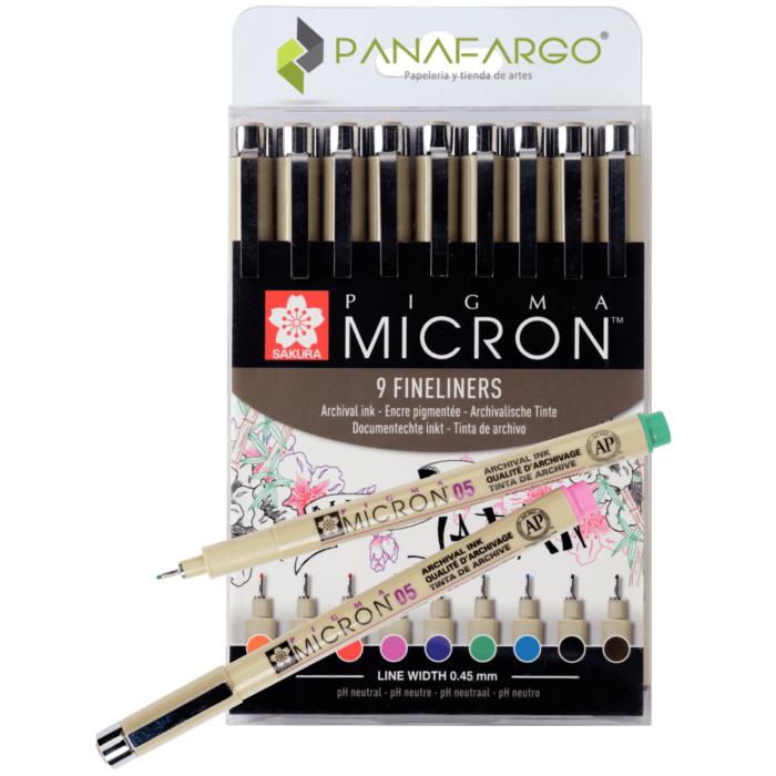 Presentación delineador sakura micron x 9