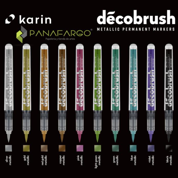 Tonalidades plumon metalizado individual marca Karin