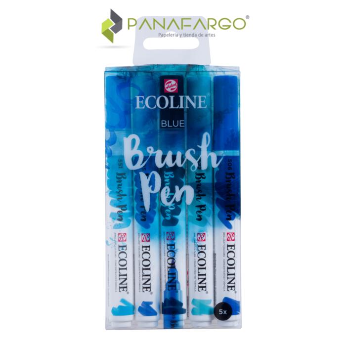 ecoline brushpen estuche azul