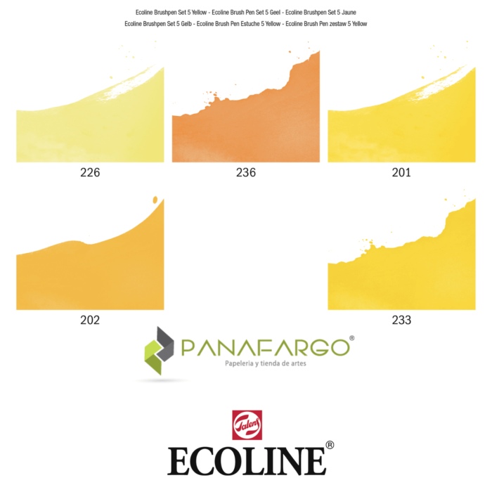 ecoline brushpen gama de colores amarillo
