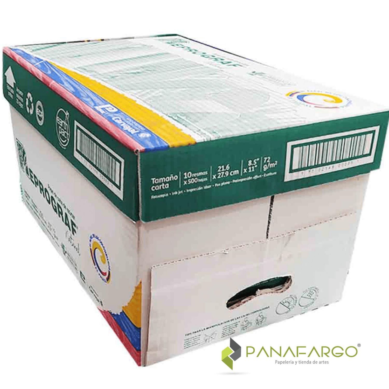 Caja resma reprograf oficio frontal Panafargo