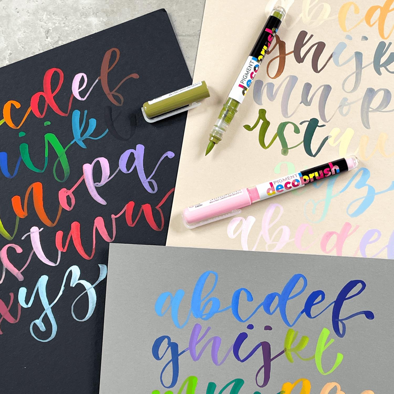 Pigment decobrush individual lettering + panafargo