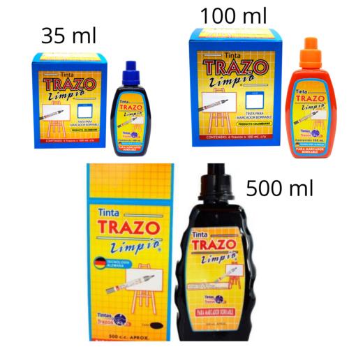 Tinta trazo limpio para marcador borrable x 35, 100 o 500 ml + Panafargo
