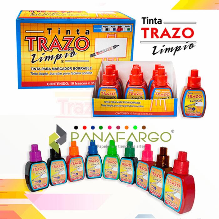 Tinta trazo marcador borrable x 35, 100 o 500 ml + Panafargo