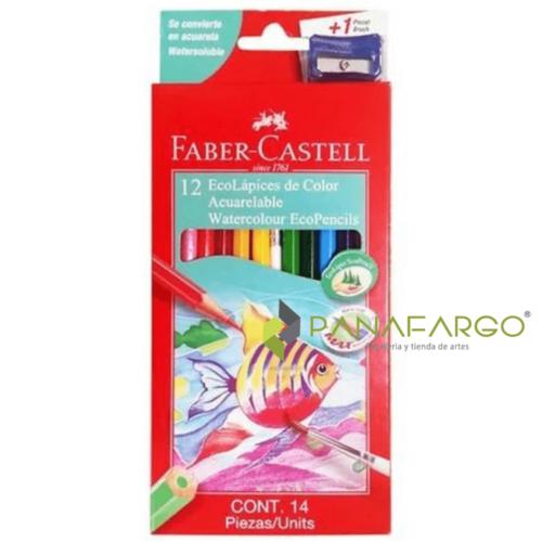 Acuarela Faber Castell Eco Colores largos X 12 + Panafargo