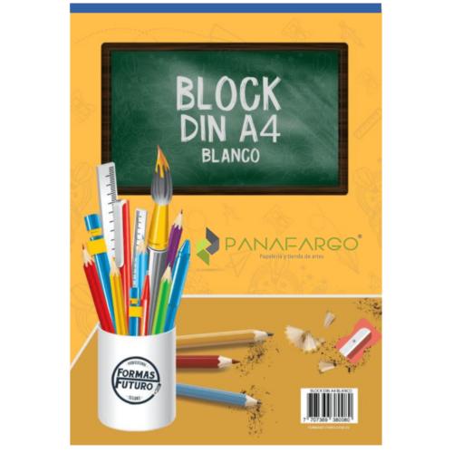 Block Din A4 Sin Rotulado x 20 Hojas Bond 115 gms Vertical + Panafargo