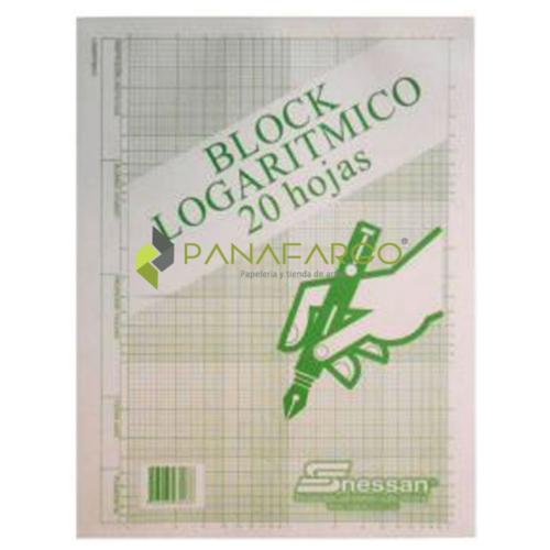 Block Logarítmico Nessan X 20 Hojas + Panafargo