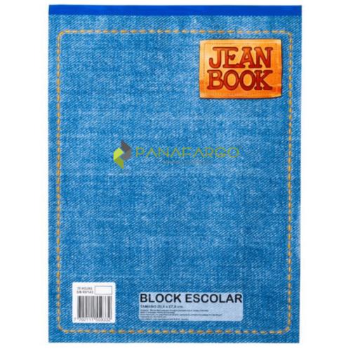 Block Norma Carta Jean Book Sin Rayas 80 Hojas + Panafargo