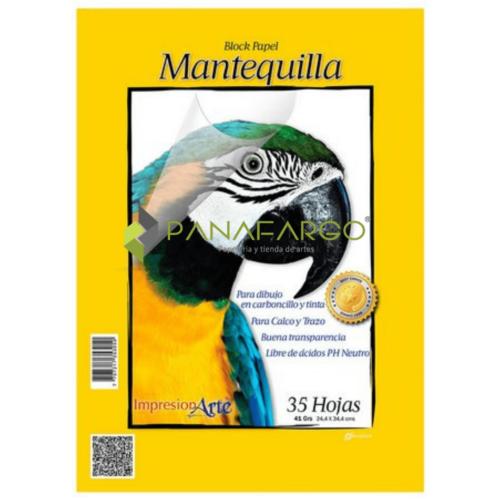 Block Papel Mantequilla DuoPapel 18 40gms 35 Hojas + Panafargo
