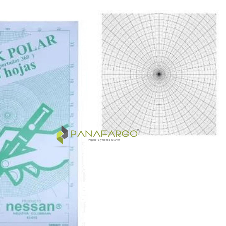 Block Polar Transportador Oficio 20 Hojas Circunferencia + Panafargo