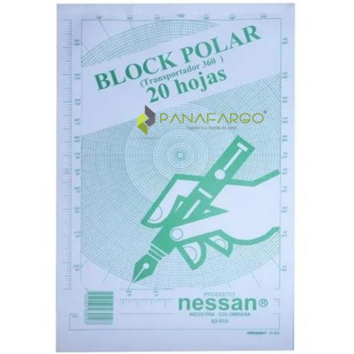 Block Polar Transportador Oficio 20 Hojas + Panafargo