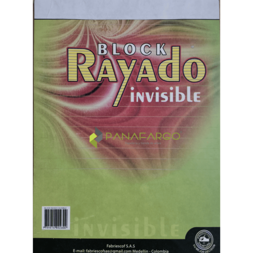 Block Rayas Invisible Carta + Panafargo