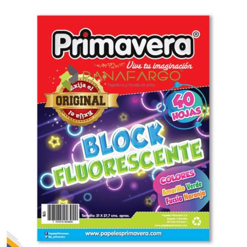 Block de Papel Iris Fluorescente Carta Primavera + Panafargo