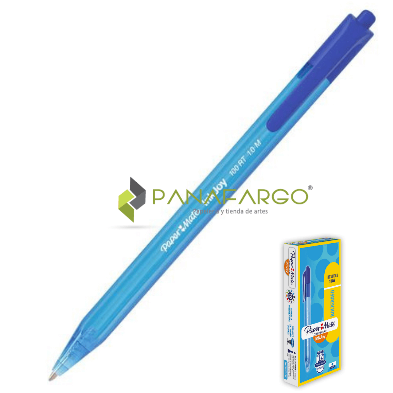 Bolígrafo Kilométrico Retráctil 100 Azul 2