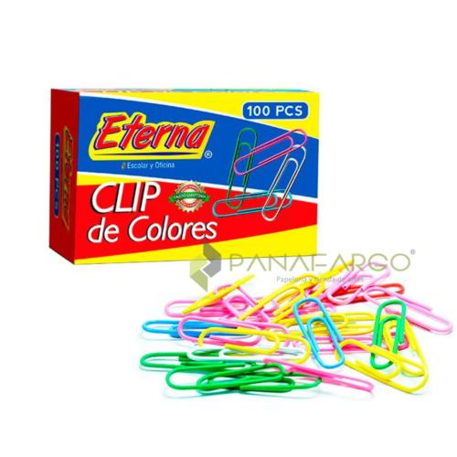 Clip Gancho de Colores 33 mm Eterna 100 und + Panafargo
