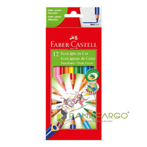 Colores Faber Castell Largo Mina 4 mm X 12 + Panafargo