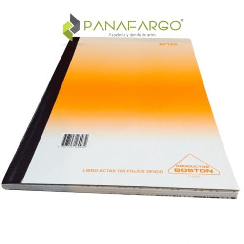 Cuaderno de Actas sin A-Z X 100 Folios Economico Oficio Boston + Panafargo