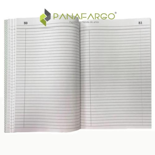 Cuaderno de Actas sin A-Z X 100 Folios Economico Oficio Boston abierto + Panafargo