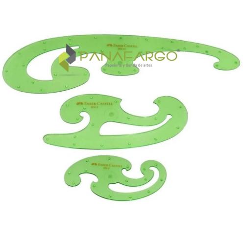 Curvígrafo Faber Castell X 3 + Panafargo