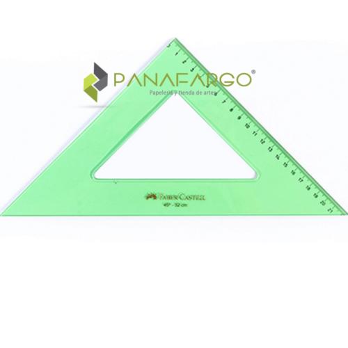 Escuadra Faber Castell 45º X 12 cms Verde Transparente + Panafargo