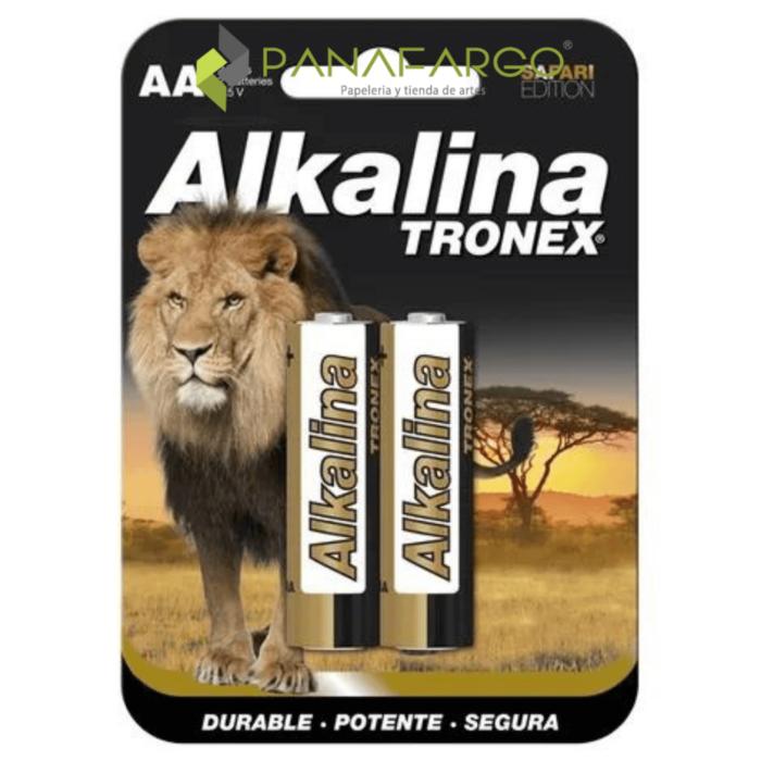 Pilas Doble A Alkalina Tronex Blister x 2 + Panafargo