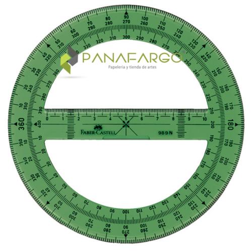 Transportador Faber Castell Profesional 360° 14 cm + Panafargo
