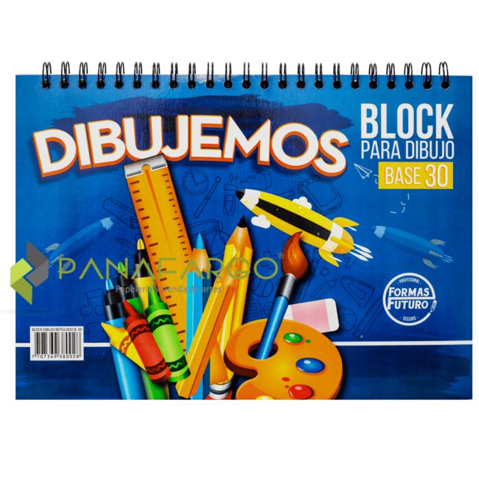 Block Base 30 Rotulado Argollado 18 pasta + Panafargo