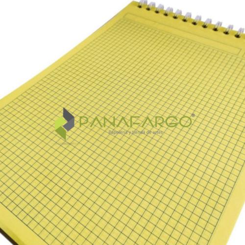 Block De Notas Amarillo Argollado Cuadriculado + Panafargo