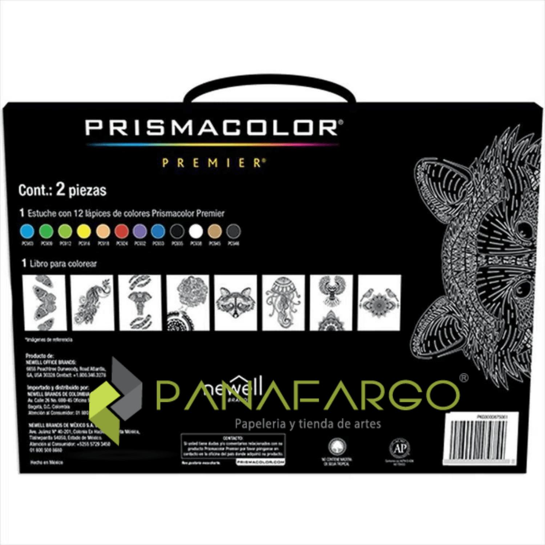 Estuche Prismacolor Premier X 12 Colores Mas Libro Para Colorear Estuche atras + Panafargo