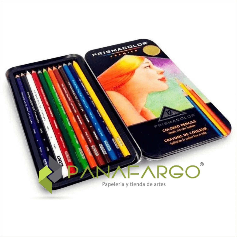 Estuche Prismacolor Premier X 12 Colores Mas Libro Para Colorear Estuche colores + Panafargo