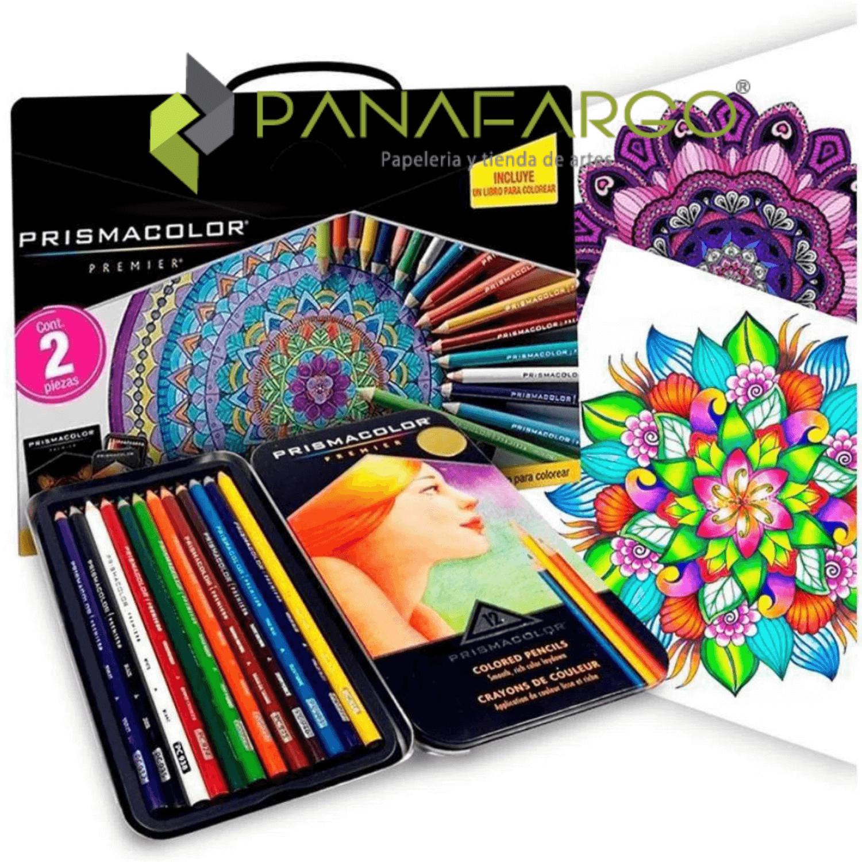 Estuche Prismacolor Premier X 12 Colores Mas Libro Para Colorear + Panafargo