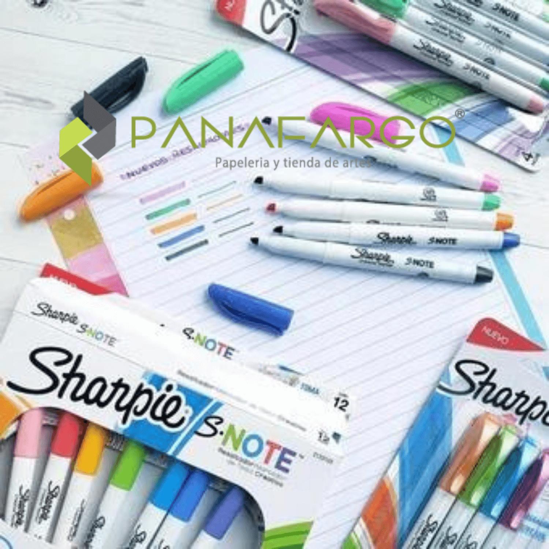 Marcador y Resaltador Pastel Sharpie X 4 Snote Abierto 2 Panafargo