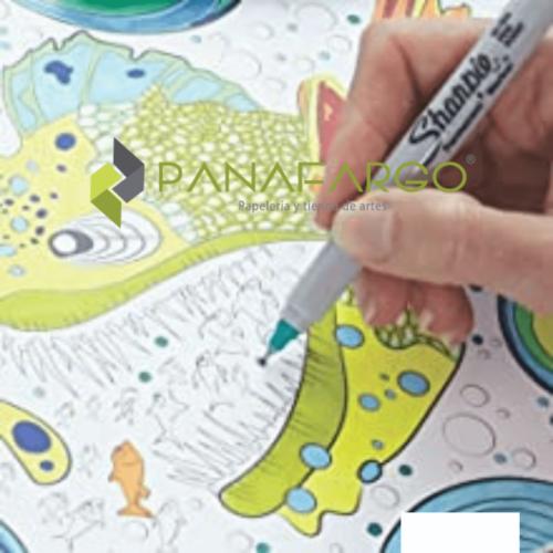 Micropunta Sharpie Permanente x 12 Colores Mas Estuche Dibujo + Panafargo