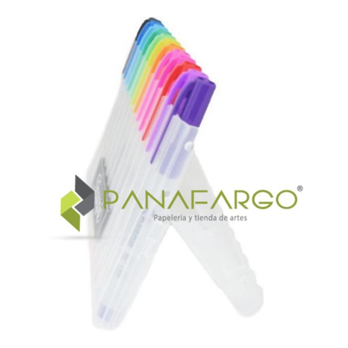 Micropunta Sharpie Permanente x 12 Colores Mas Estuche abierto + Panafargo