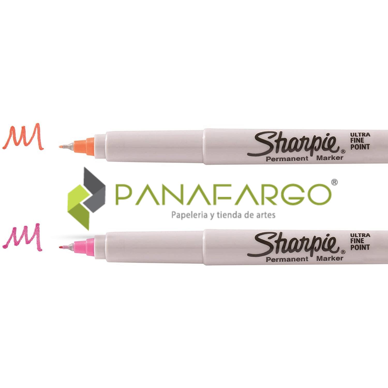 Micropunta Sharpie Permanente x 12 Colores Mas Estuche trazos + Panafargo
