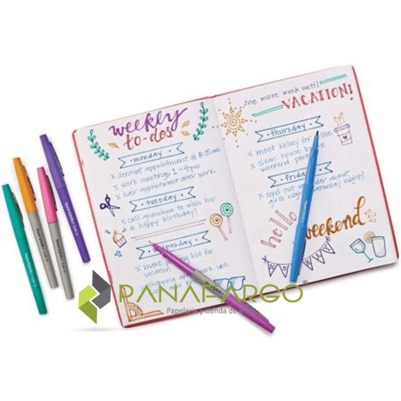 Paper Mate Micropunta Flair Felt Tip Candy Pop X 24 cuaderno pintado + Panafargo