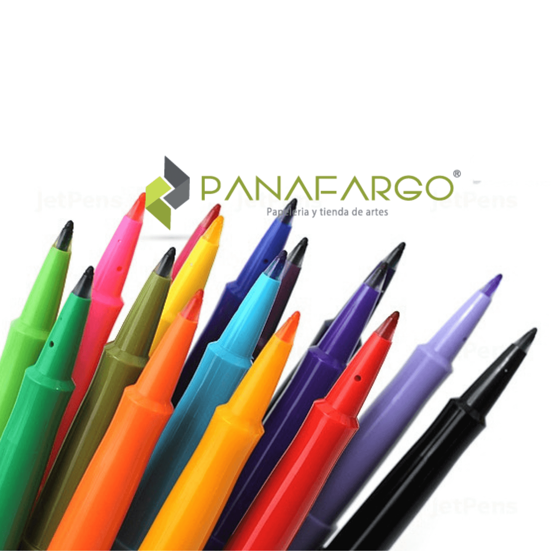 Paper Mate Micropunta Flair Felt Tip Candy Pop X 24 destapados + Panafargo